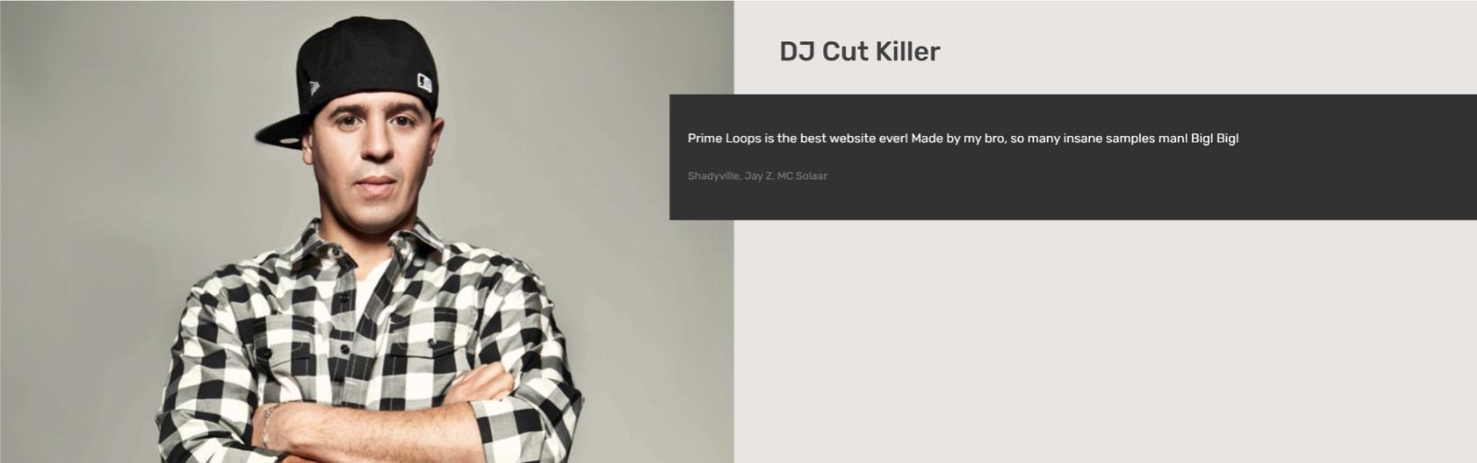 DJ Cut Killer   Testimonial