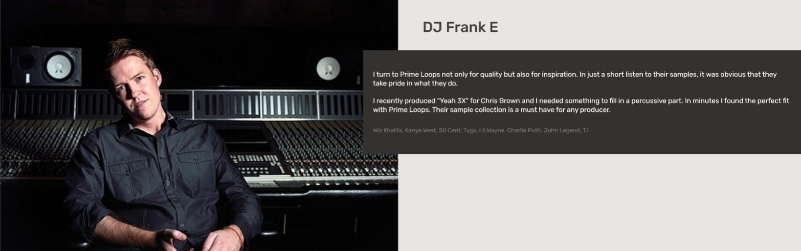 DJ Frank E   Testimonial