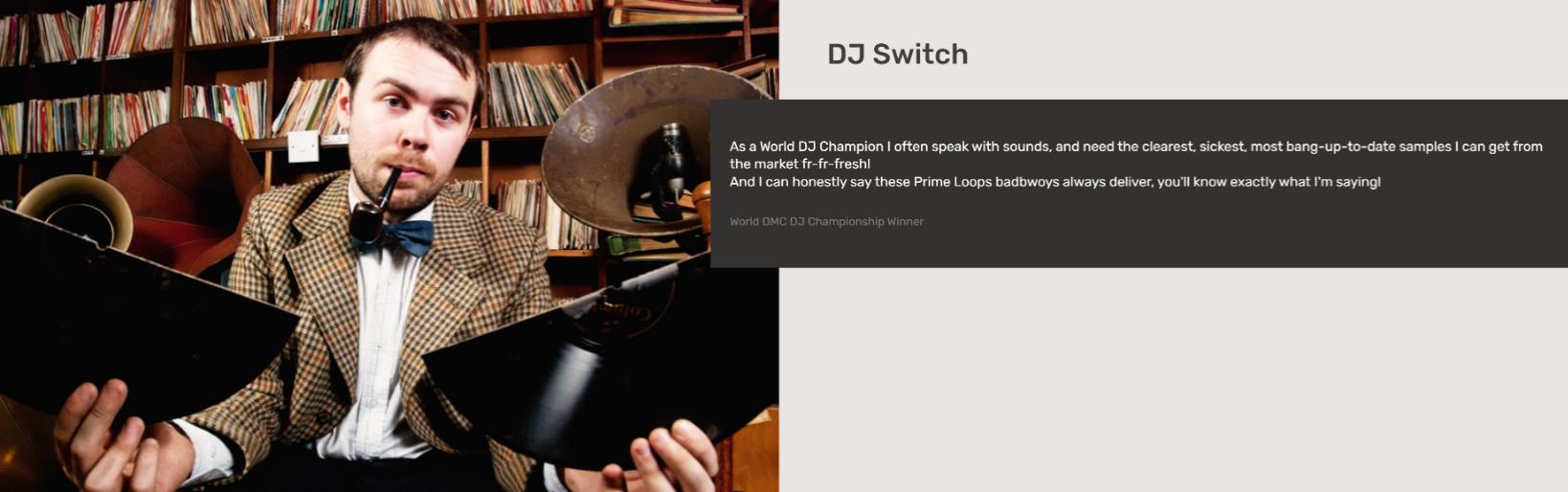 DJ Switch   Testimonial